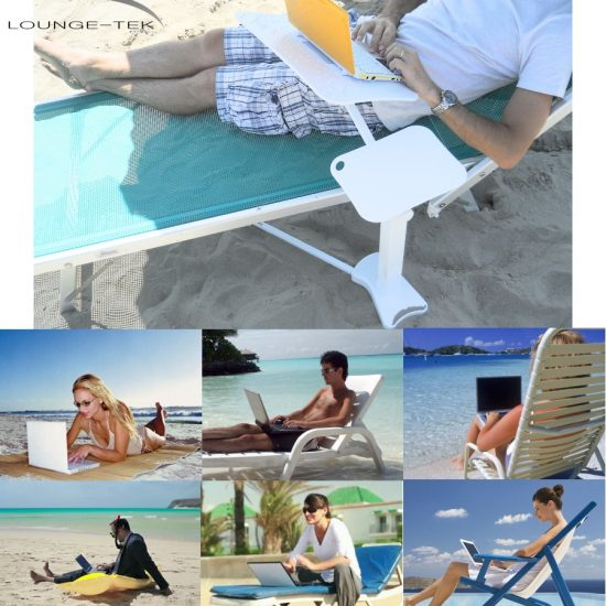 The Lounge-Book using laptop outdoor: on the beach, on the garden, at the club house