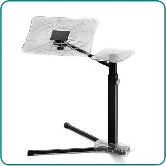 the laptop holder to find correct posture using mobile devices at home. Ergonomic