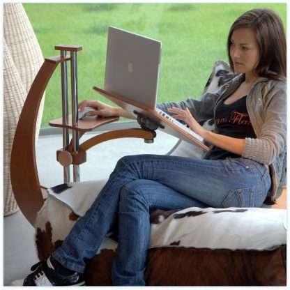 arredamento per usare notebook e tablet in ergonomia e comfort