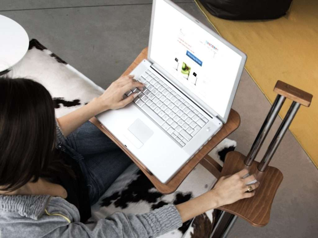 A laptop desk to improve ergonomic features of mobile devices