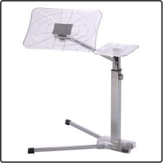 Fully adjustable ergonomic laptop table