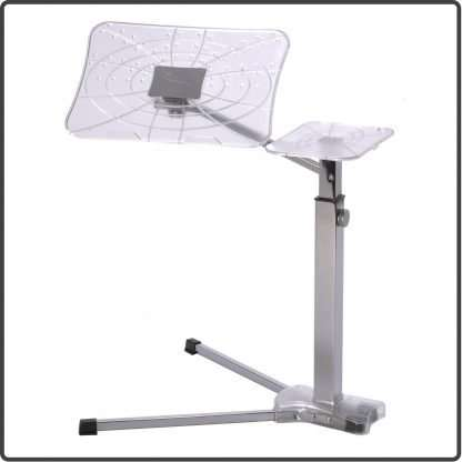 Fully adjustable ergonomic laptop table
