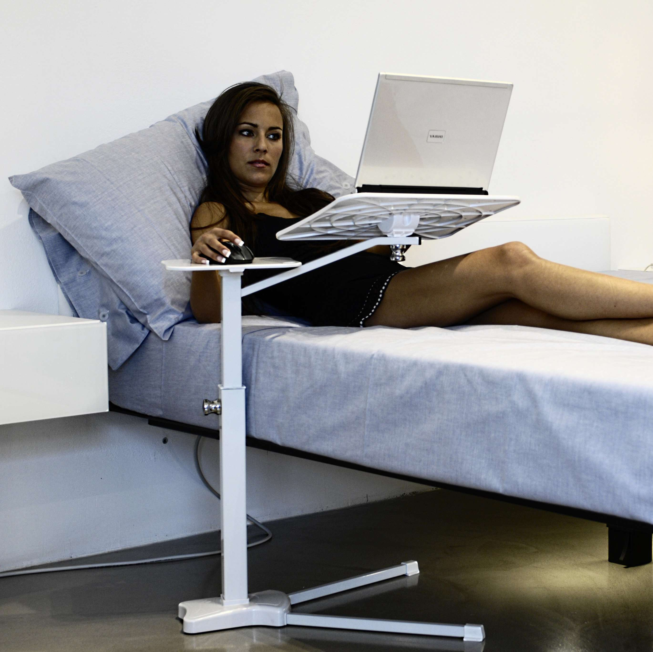 Using Laptop In Bed Stand