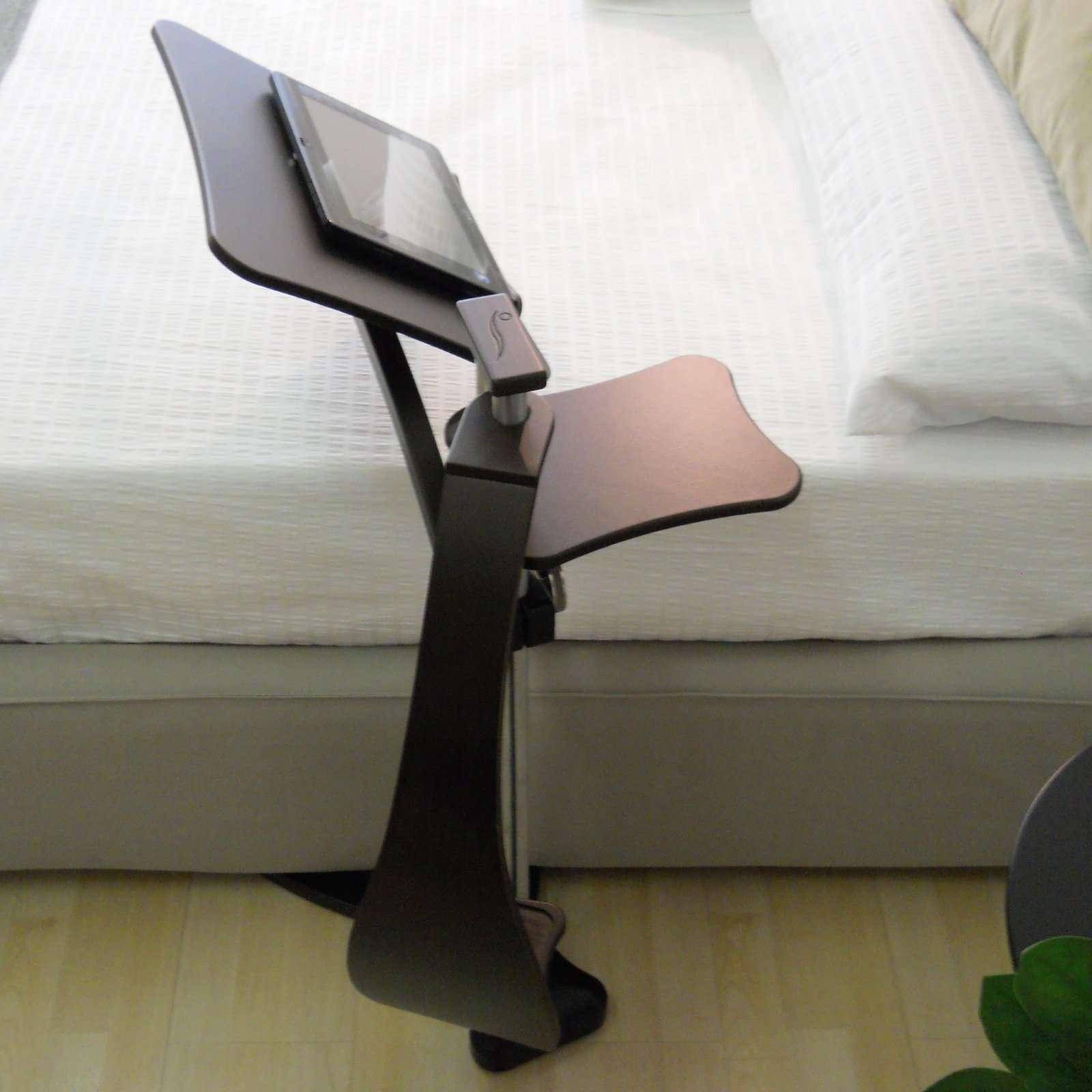 lounge wood dark laptop holder