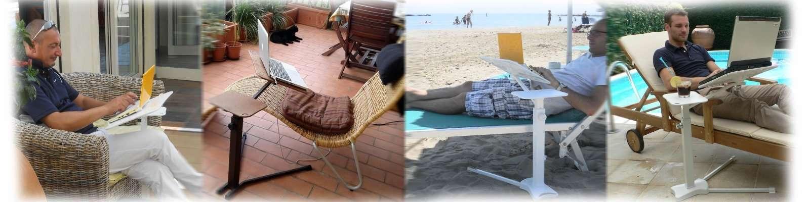 use seu laptop ao ar livre no jardim, no terraço, na praia, no clube, na beira da piscina