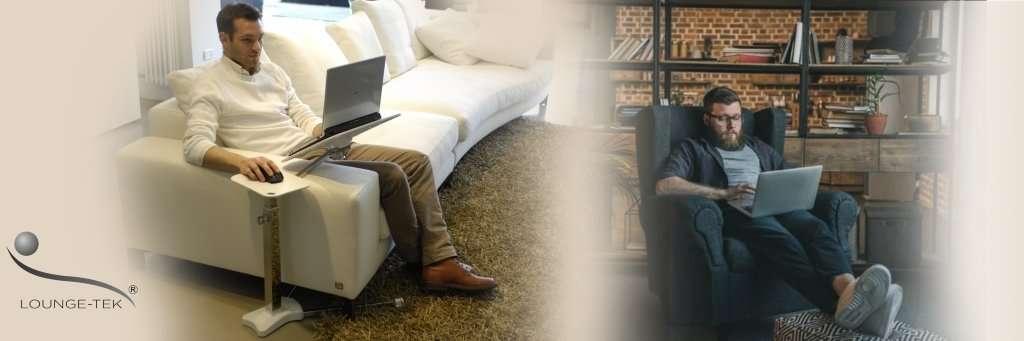 support ergonomique pour ordinateur portable. Lounge-book transforme votre canapé, fauteuil, fauteuil en un lapdesk parfait.