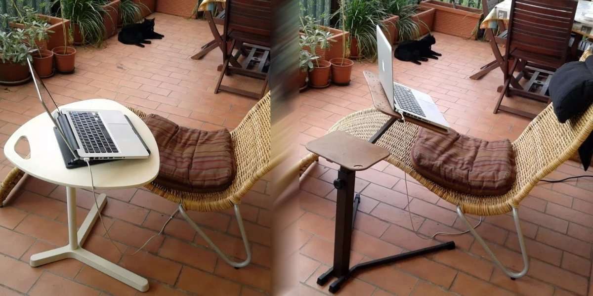 ikea dave coffe table for laptop vs. lounge-book ergonomic adjustable laptop table